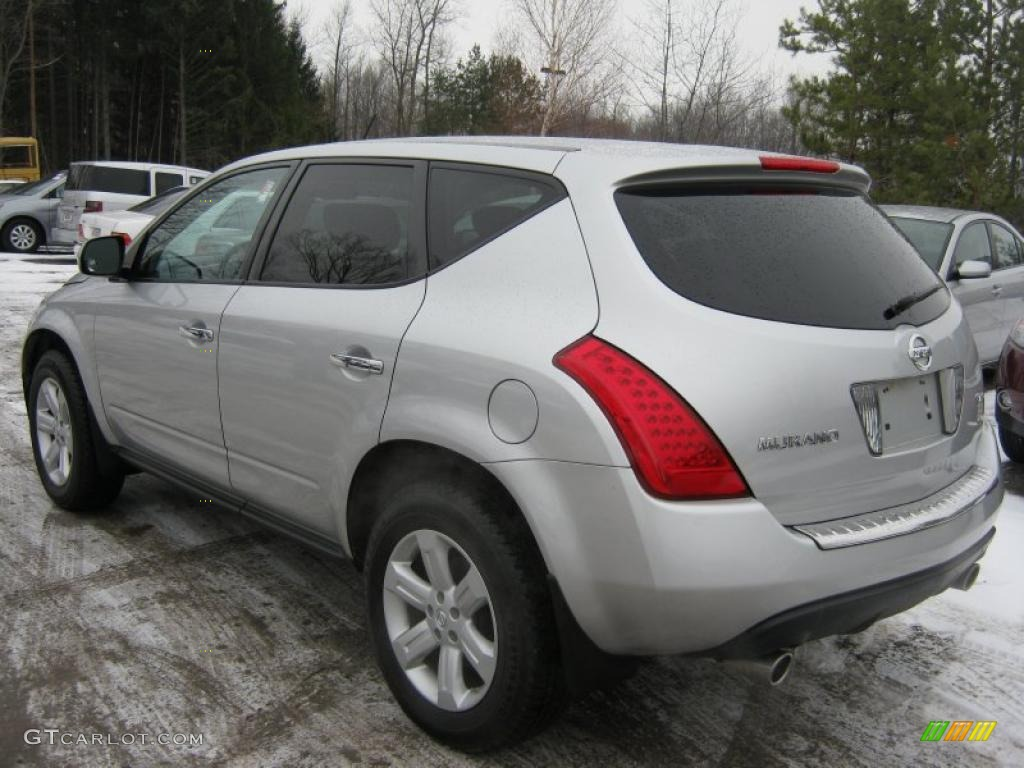 2007 Murano S AWD - Brilliant Silver Metallic / Charcoal photo #15