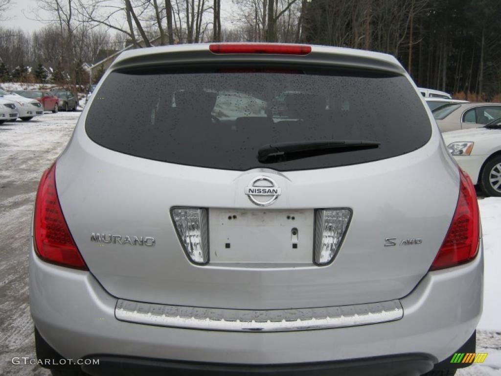 2007 Murano S AWD - Brilliant Silver Metallic / Charcoal photo #16