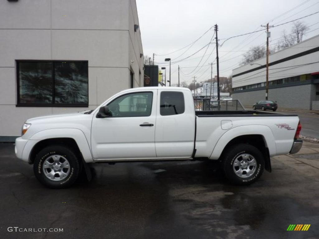 Captivating Super White Toyota Tacoma. Toyota Tacoma V6 TRD Access Cab 4x4