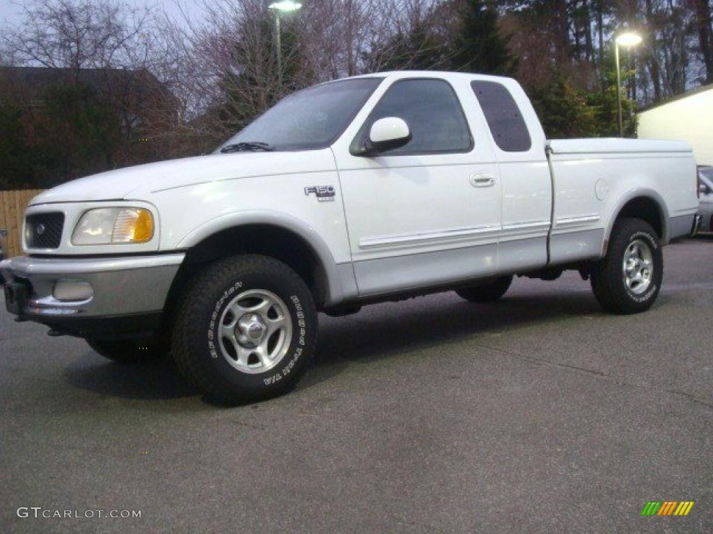 Oxford White 1998 Ford F150 Xlt Supercab 4x4 Exterior Photo