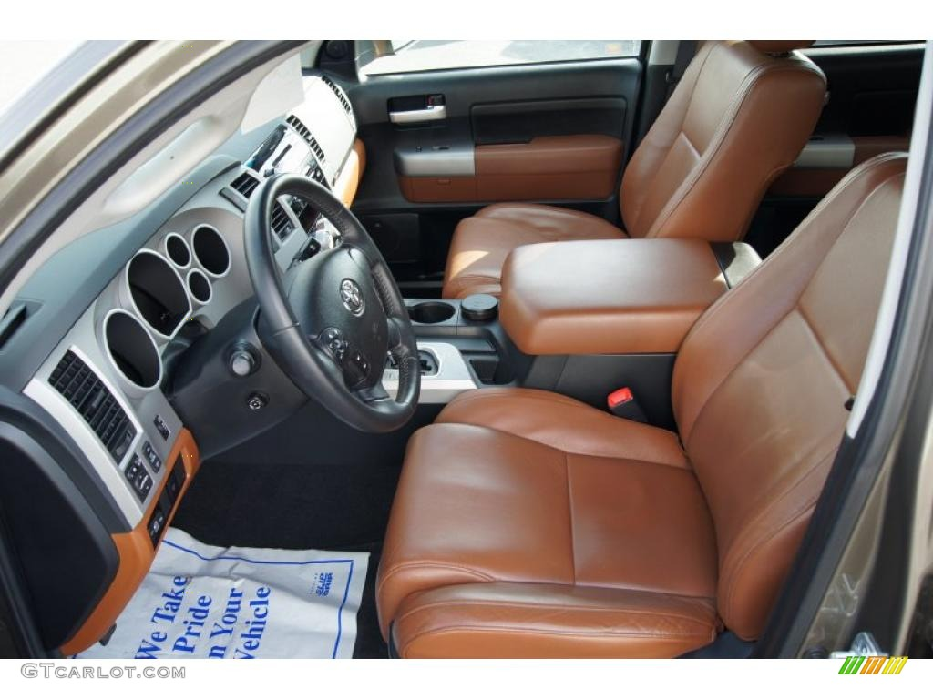 Red Rock Interior 2008 Toyota Tundra Limited Crewmax 4x4 Photo