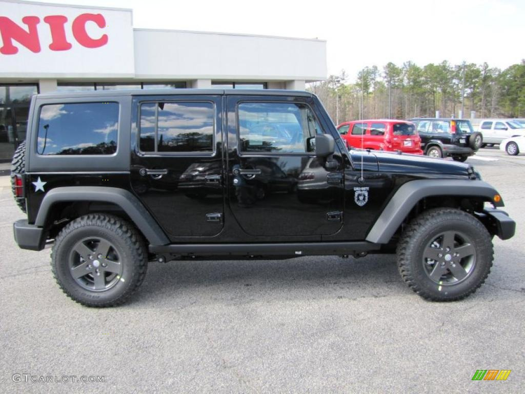 Black 2011 Jeep Wrangler Unlimited Call of Duty: Black Ops Edition ...