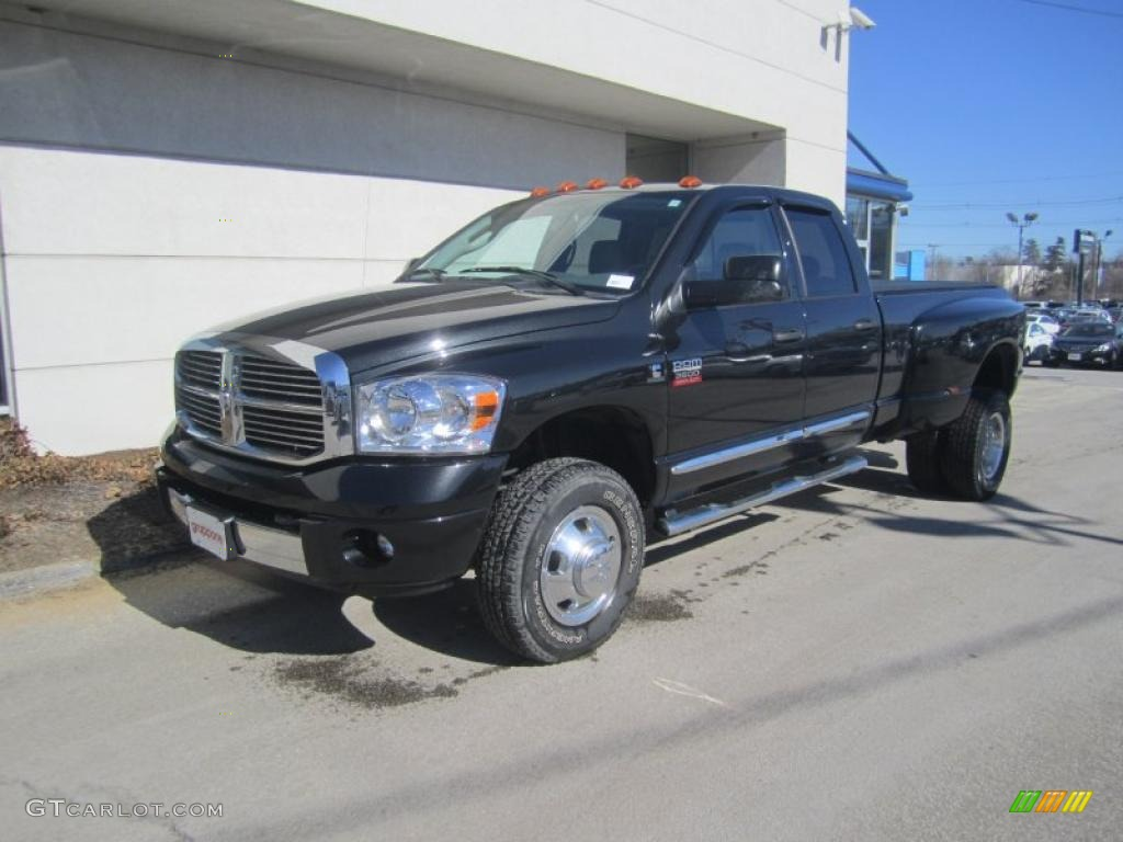 Brilliant black crystal pearl dodge ram 3500