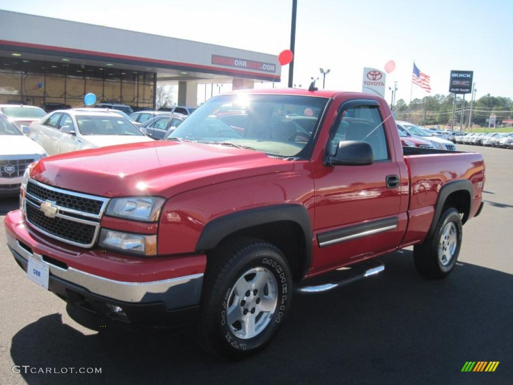 2006 Victory Red Chevrolet Silverado 1500 Z71 Regular Cab