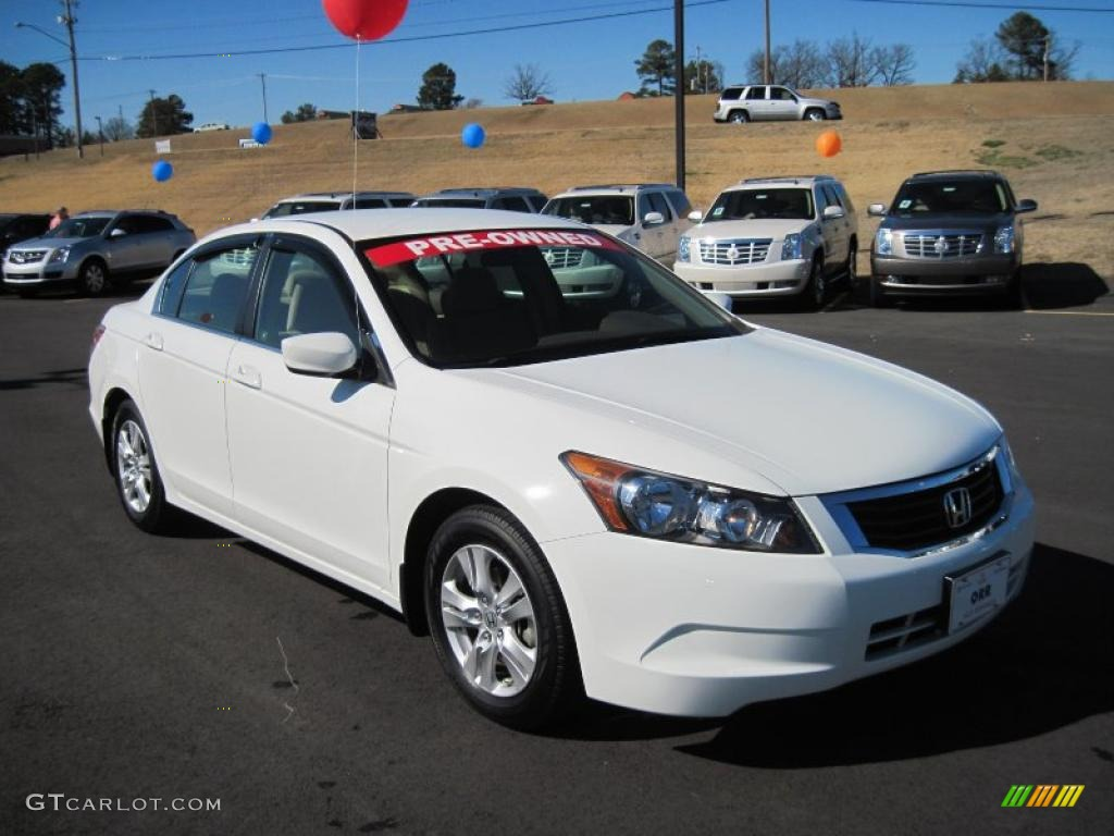 Taffeta White 2009 Honda Accord Lx P Sedan Exterior Photo 45975232 Gtcarlot Com