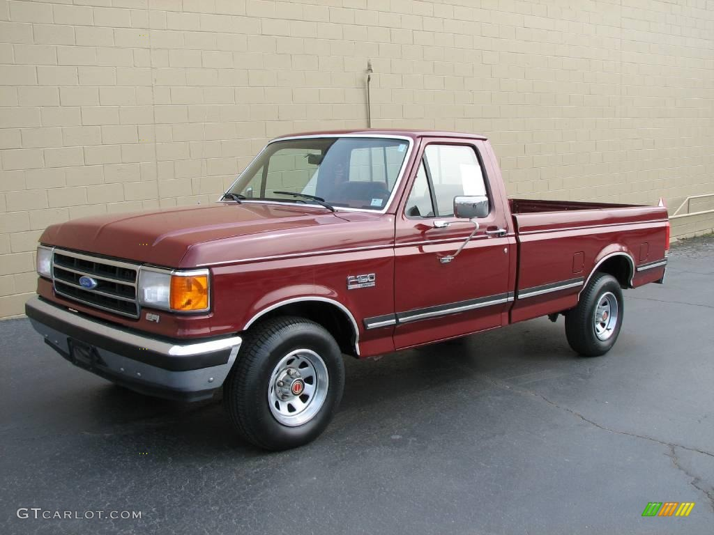 1990 medium cabernet ford f150 xlt lariat regular cab 4564400 photo 2 car. Black Bedroom Furniture Sets. Home Design Ideas