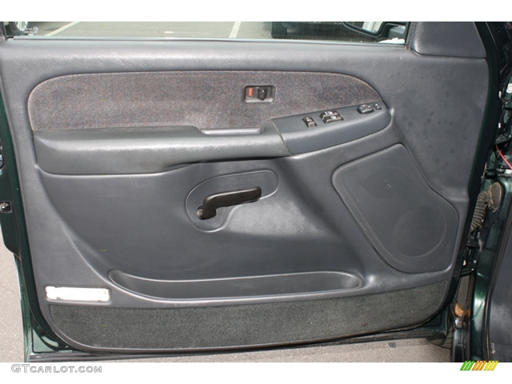 2001 Gmc Sierra 1500 Sle Extended Cab 4x4 Graphite Door Panel Photo 46001030