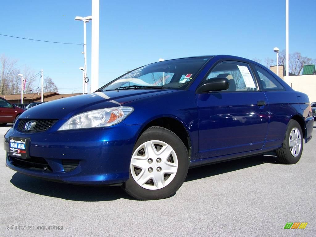 2004 fiji blue pearl honda civic value package coupe. Black Bedroom Furniture Sets. Home Design Ideas