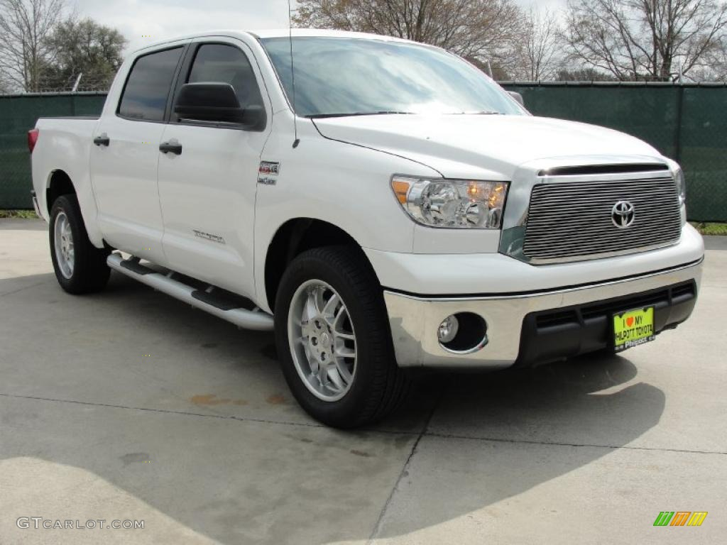 2011 super white toyota tundra texas edition crewmax 45955218 car color galleries. Black Bedroom Furniture Sets. Home Design Ideas