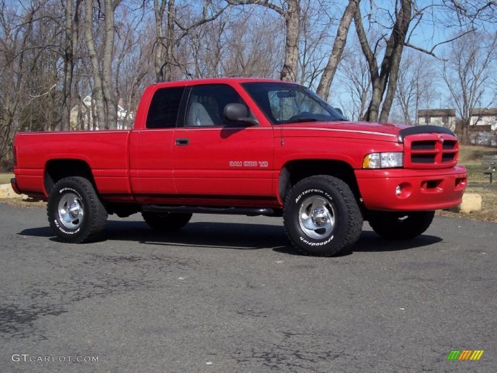 flame red 1999 dodge ram 1500 sport extended cab 4x4 exterior photo 46009943. Black Bedroom Furniture Sets. Home Design Ideas