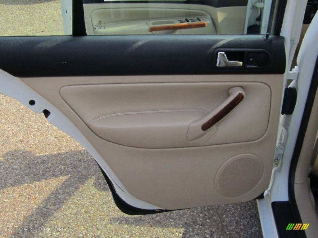 2001 volkswagen jetta glx vr6 sedan beige door panel photo 46019140