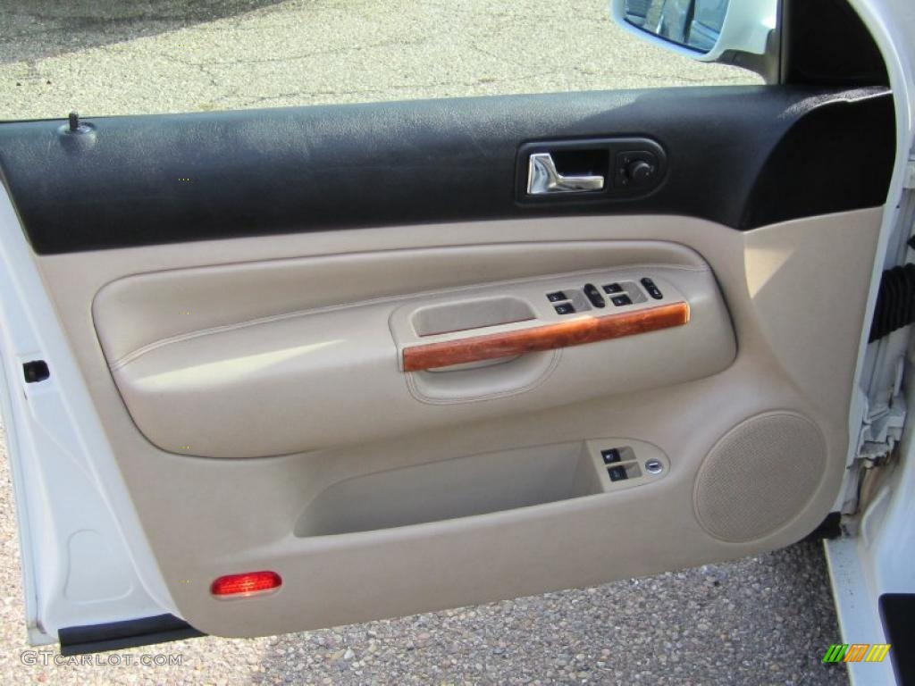 2001 Volkswagen Jetta Glx Vr6 Sedan Beige Door Panel Photo 46019158