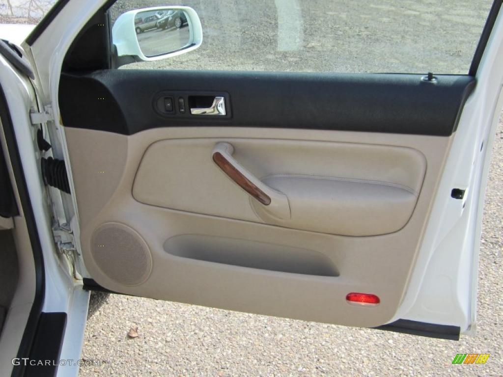 2001 Volkswagen Jetta Glx Vr6 Sedan Beige Door Panel Photo 46019200