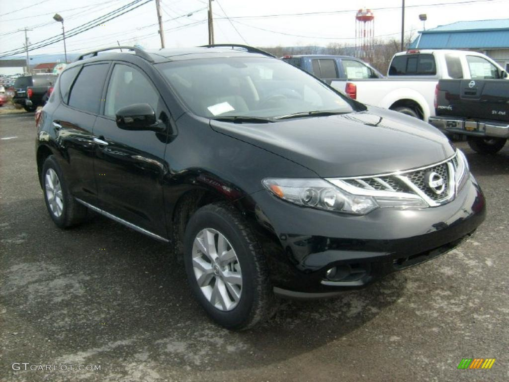 Super Black 2011 Nissan Murano Sl Awd Exterior Photo