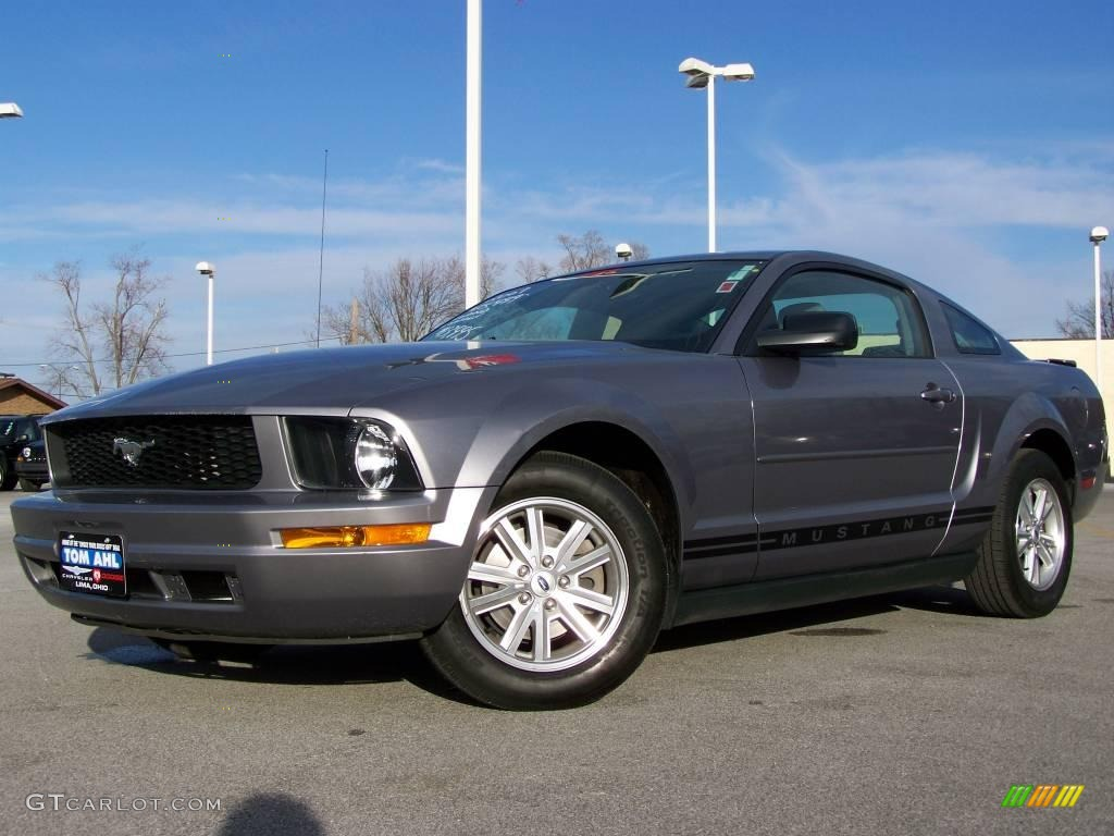 2007 Mustang V6 Premium Coupe - Tungsten Grey Metallic / Light Graphite photo #1