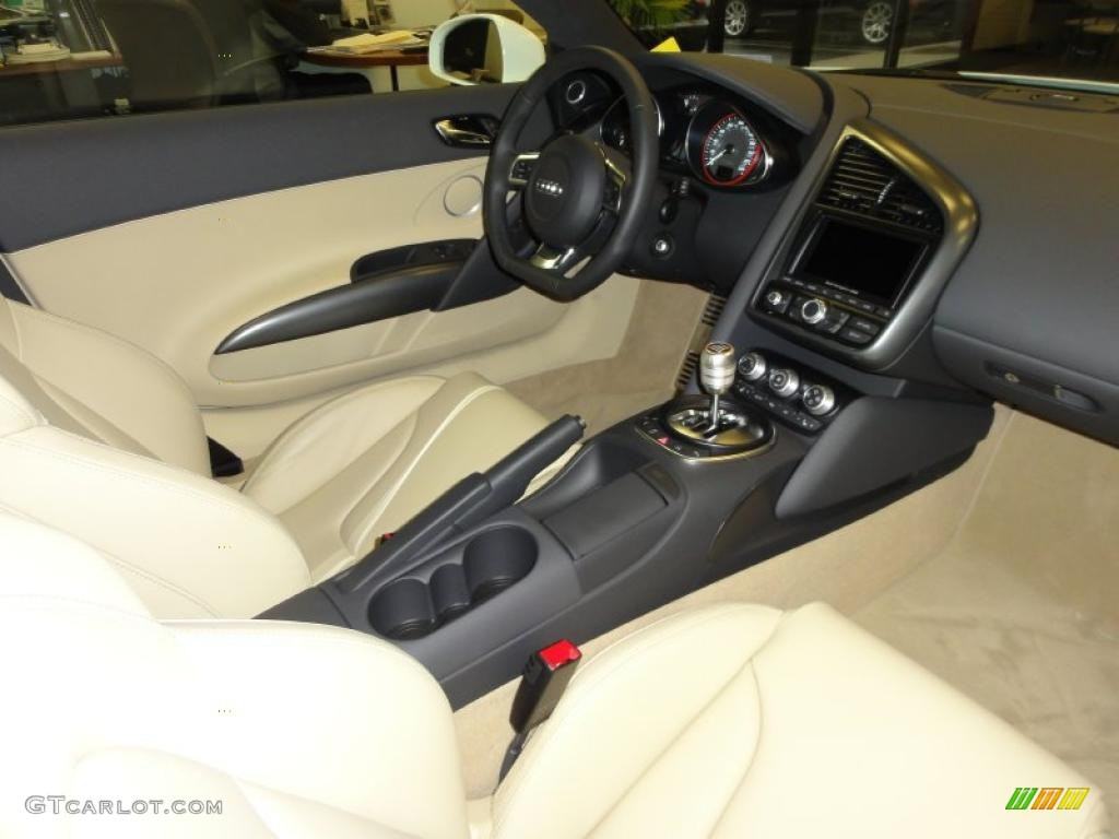 luxor beige nappa leather interior 2011 audi r8 5 2 fsi. Black Bedroom Furniture Sets. Home Design Ideas
