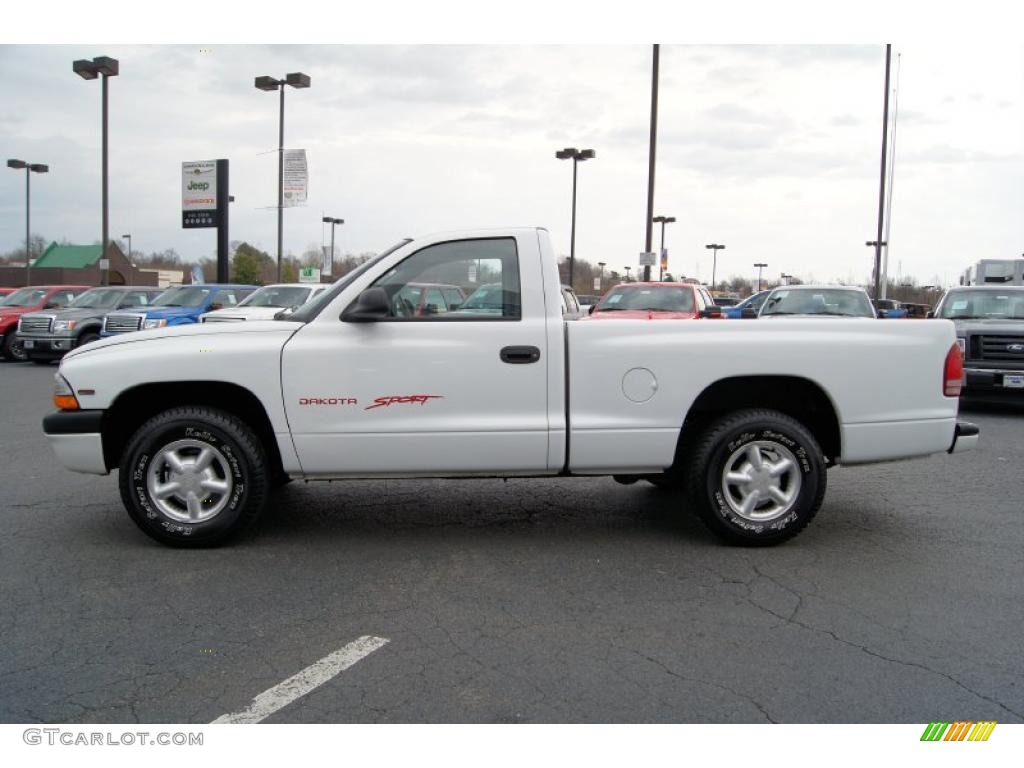 bright white 1999 dodge dakota sport regular cab exterior. Black Bedroom Furniture Sets. Home Design Ideas