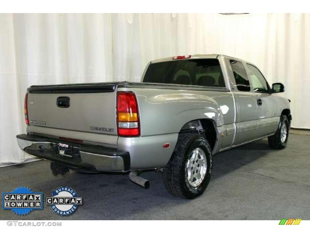 2002 Silverado 1500 LS Extended Cab - Light Pewter Metallic / Graphite Gray photo #3
