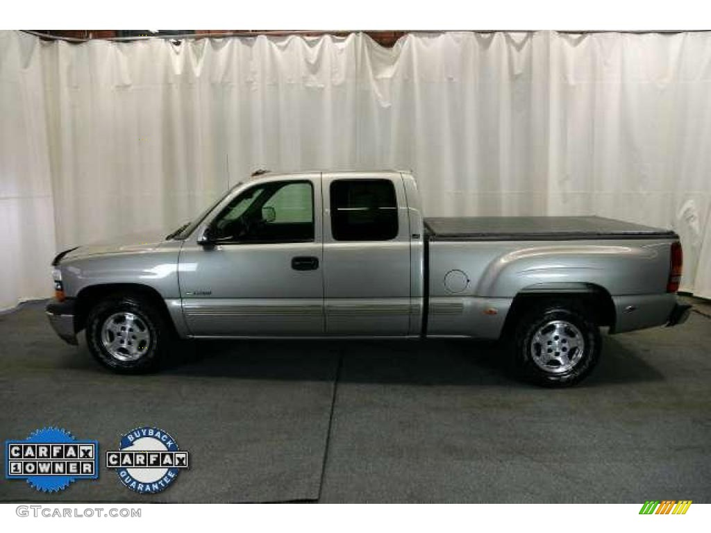 2002 Silverado 1500 LS Extended Cab - Light Pewter Metallic / Graphite Gray photo #5