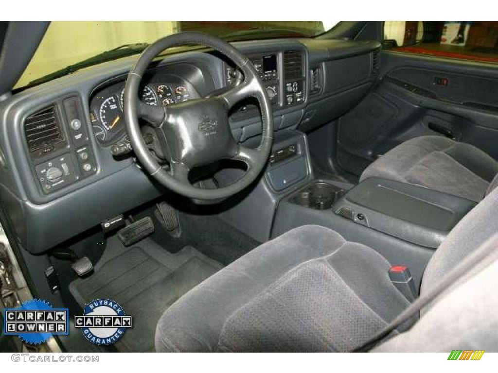 2002 Silverado 1500 LS Extended Cab - Light Pewter Metallic / Graphite Gray photo #8