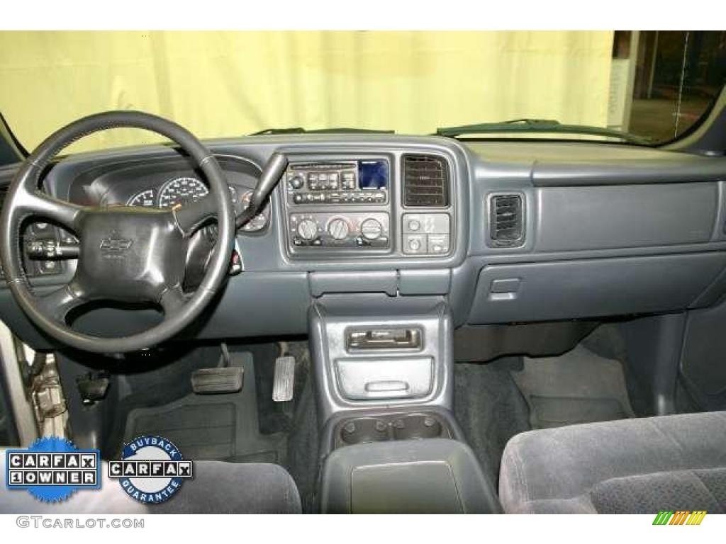 2002 Silverado 1500 LS Extended Cab - Light Pewter Metallic / Graphite Gray photo #9