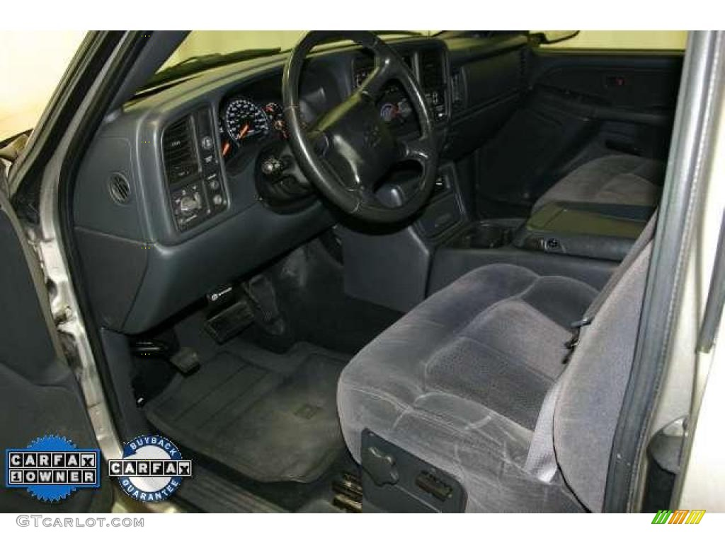 2002 Silverado 1500 LS Extended Cab - Light Pewter Metallic / Graphite Gray photo #10