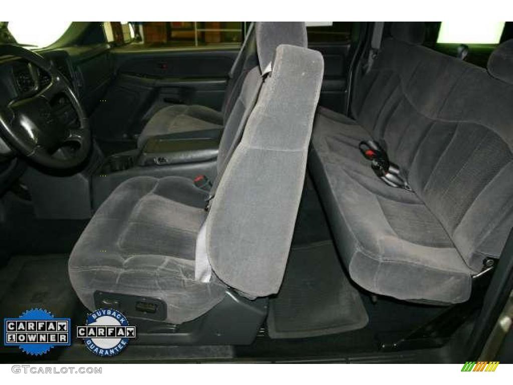 2002 Silverado 1500 LS Extended Cab - Light Pewter Metallic / Graphite Gray photo #11