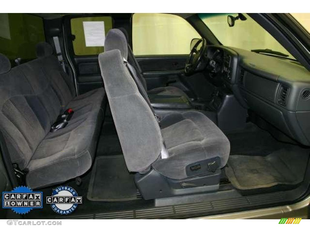 2002 Silverado 1500 LS Extended Cab - Light Pewter Metallic / Graphite Gray photo #12