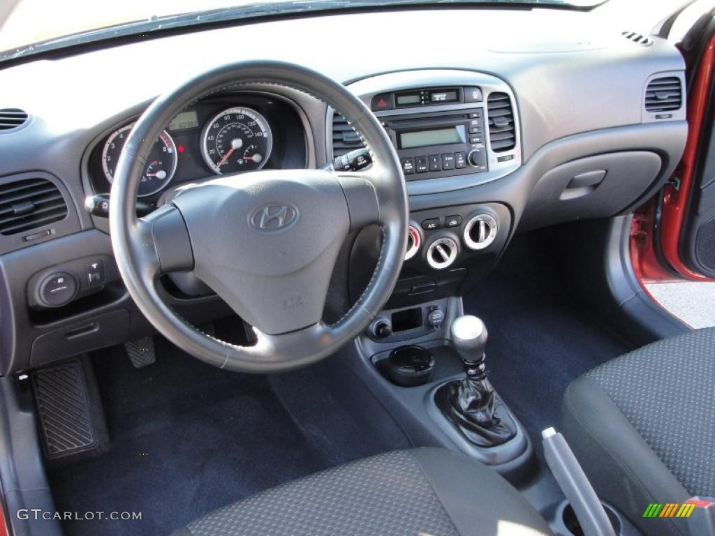 2008 Hyundai Accent SE Coupe Interior Color Photos ...