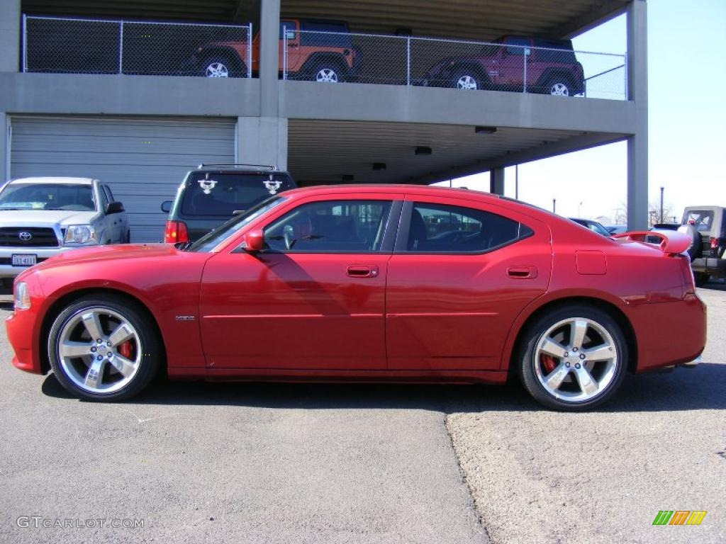 Inferno red crystal pearl 2006 dodge charger srt 8 exterior photo 46079377