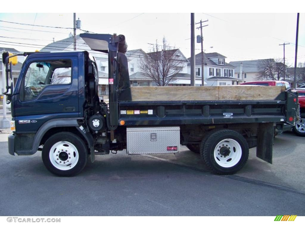 2007 lcf truck l55 commercial dump truck dark blue pearl medium graphite photo