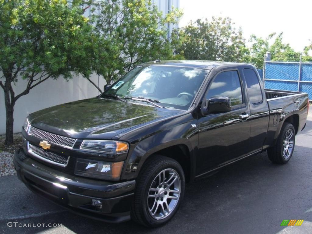 black 2011 chevrolet colorado lt extended cab exterior. Black Bedroom Furniture Sets. Home Design Ideas