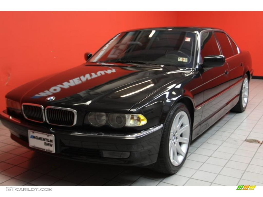 cosmos black metallic 2001 bmw 7 series 740i sedan. Black Bedroom Furniture Sets. Home Design Ideas
