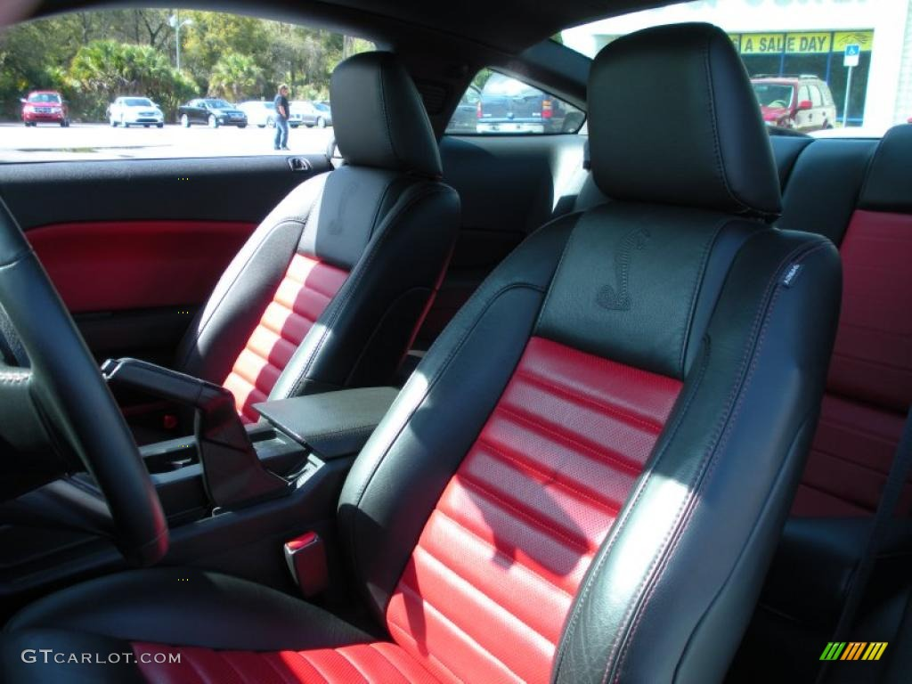 Roush Stage 3 >> Black/Red Interior 2007 Ford Mustang Shelby GT500 Coupe ...