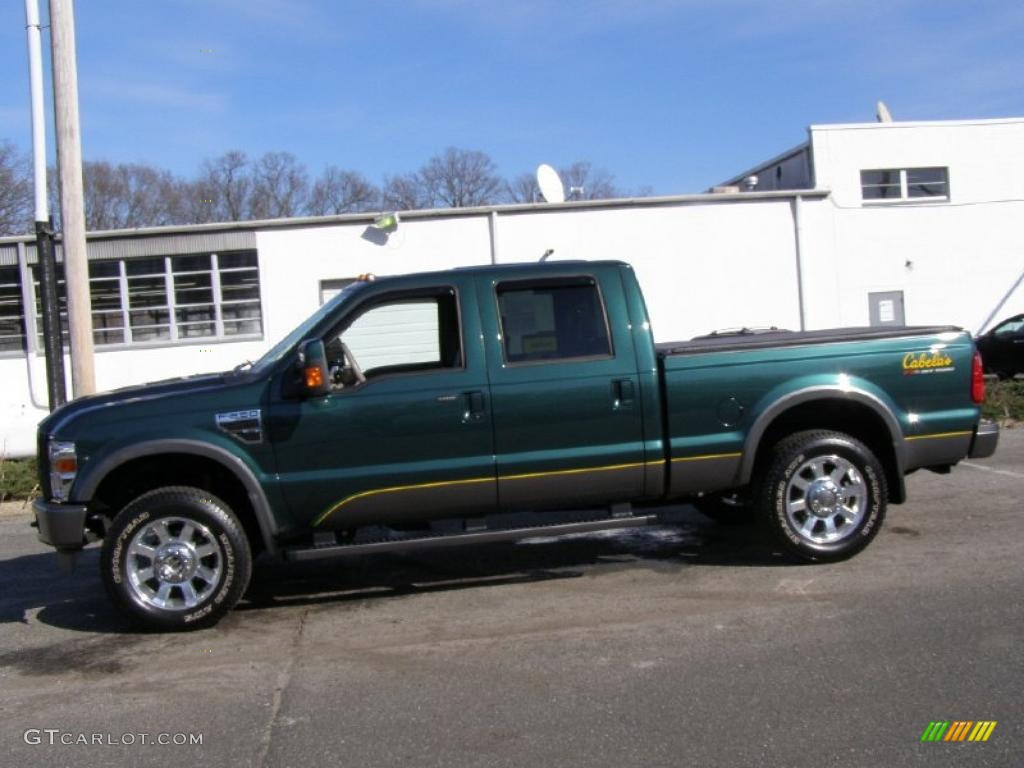 forest green metallic 2009 ford f250 super duty cabelas edition crew cab 4x4 exterior photo. Black Bedroom Furniture Sets. Home Design Ideas