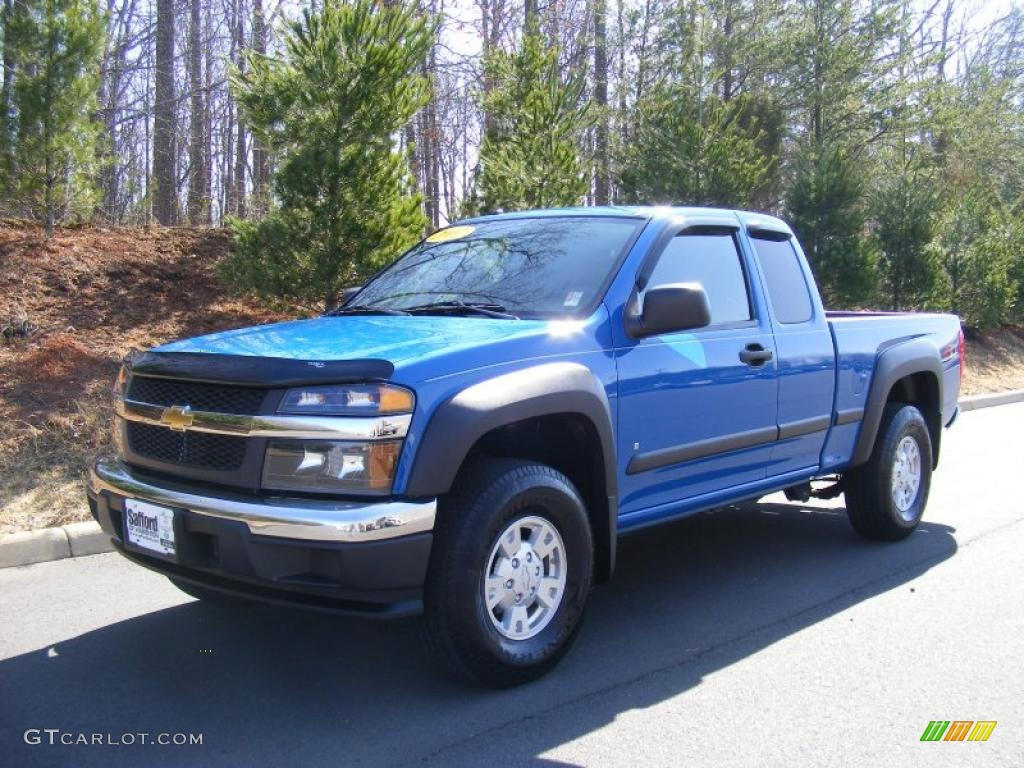 2007 pace blue chevrolet colorado lt z71 extended cab 4x4. Black Bedroom Furniture Sets. Home Design Ideas