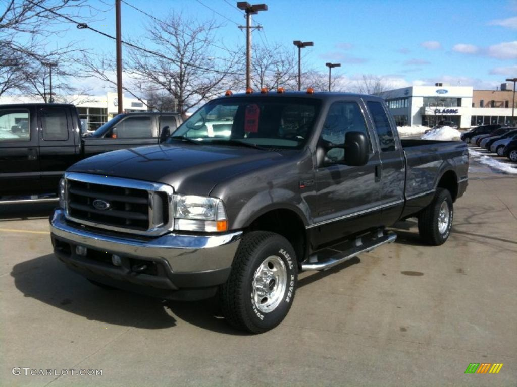 dark shadow grey metallic 2002 ford f250 super duty lariat supercab 4x4 exterior photo 46126554. Black Bedroom Furniture Sets. Home Design Ideas