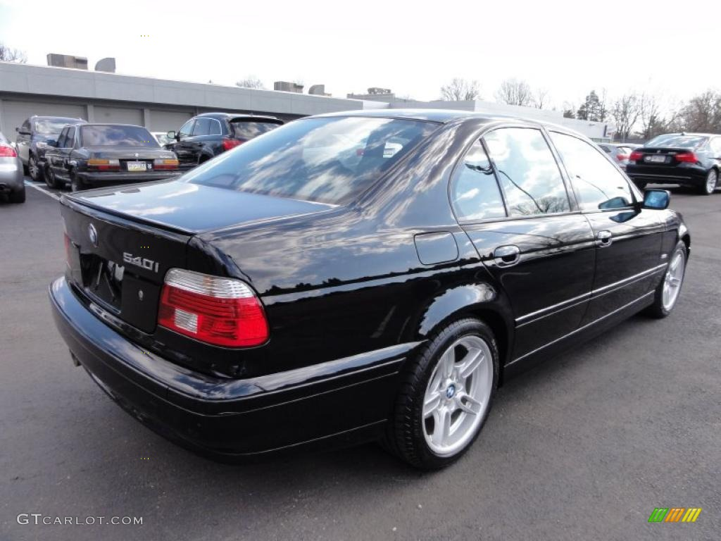 jet black 2002 bmw 5 series 540i sedan exterior photo. Black Bedroom Furniture Sets. Home Design Ideas