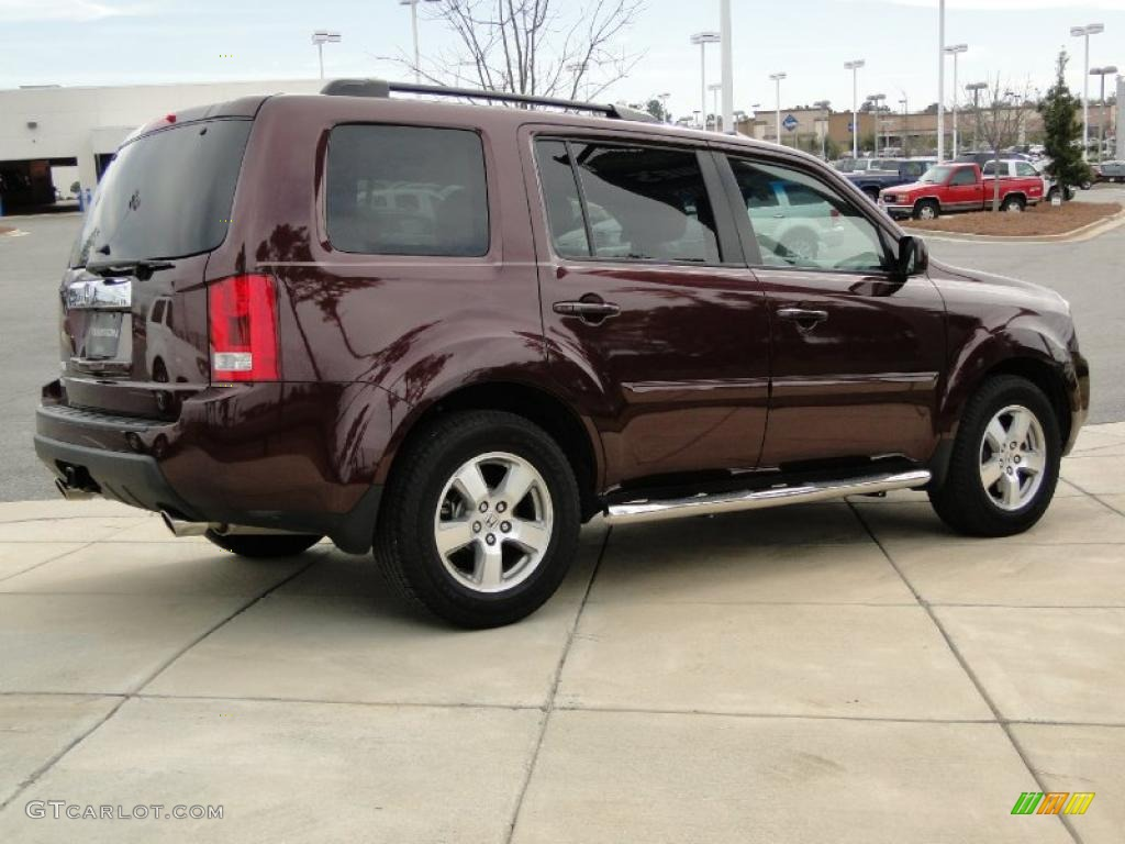 Dark Cherry Pearl 2009 Honda Pilot Ex L Exterior Photo 46136899