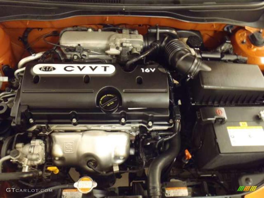 2009 kia rio rio5 lx hatchback 1 6 liter dohc 16 valve cvvt 4 cylinder engine photo 46136935