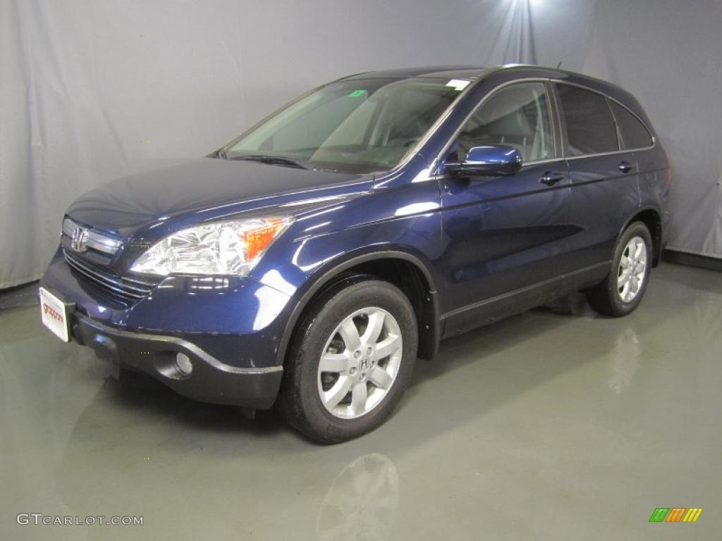 2008 CR-V EX-L 4WD - Royal Blue Pearl / Gray photo #1