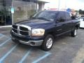2006 Patriot Blue Pearl Dodge Ram 1500 SLT Quad Cab  photo #2