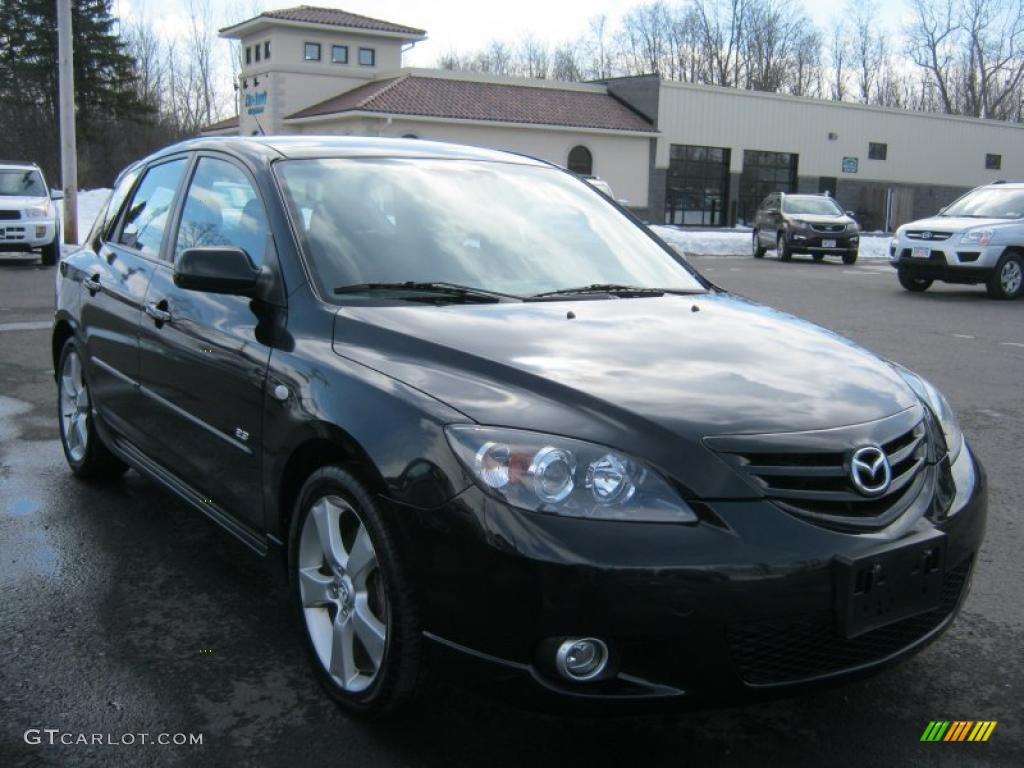 black mica 2005 mazda mazda3 s hatchback exterior photo. Black Bedroom Furniture Sets. Home Design Ideas