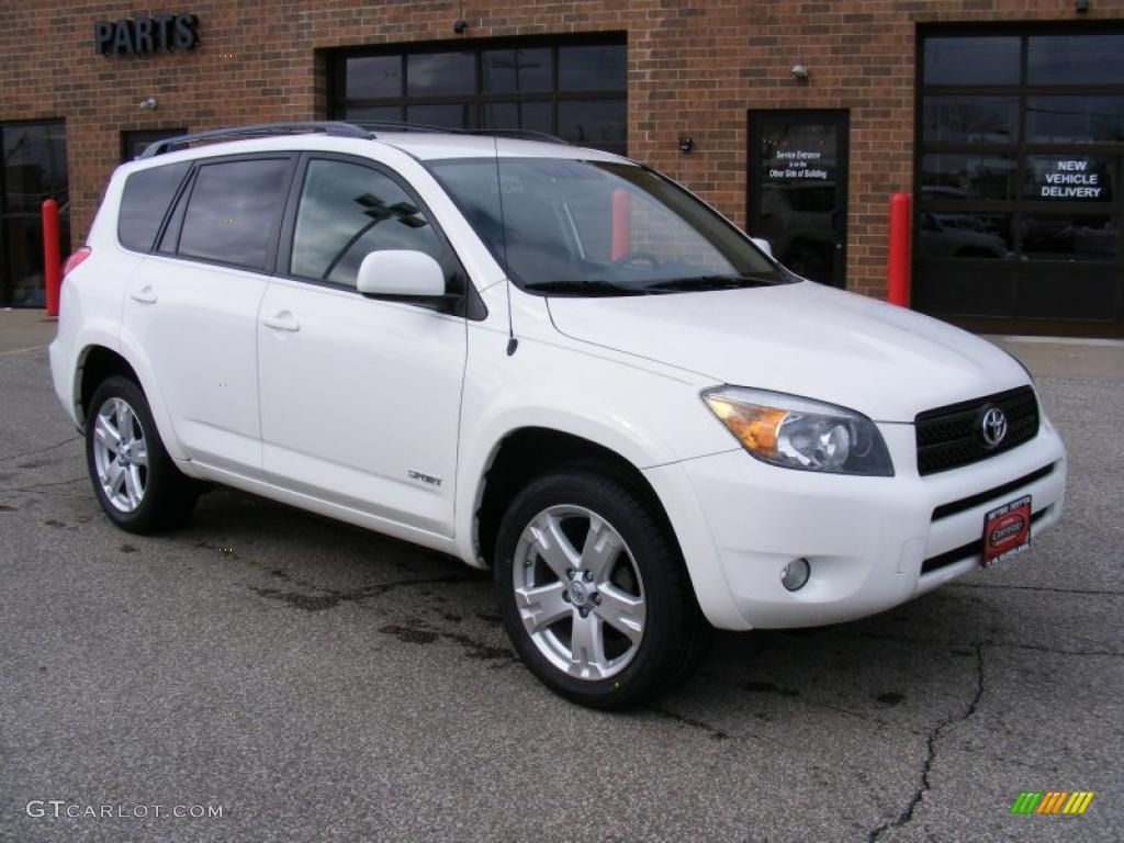 2007 super white toyota rav4 sport 46091384 car color galleries. Black Bedroom Furniture Sets. Home Design Ideas