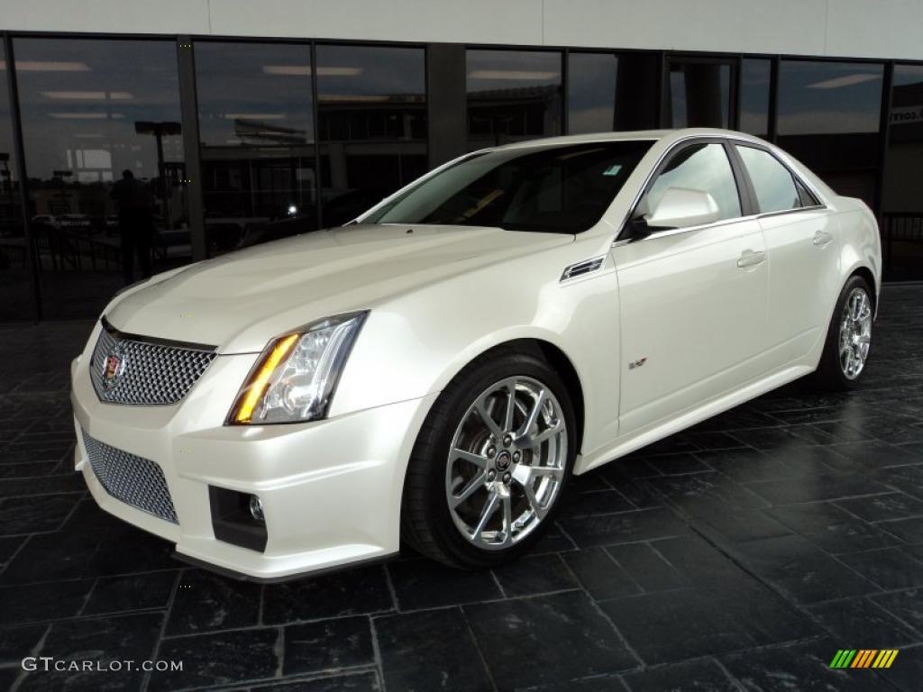 2010 White Diamond Tricoat Cadillac Cts V Sedan 46091828