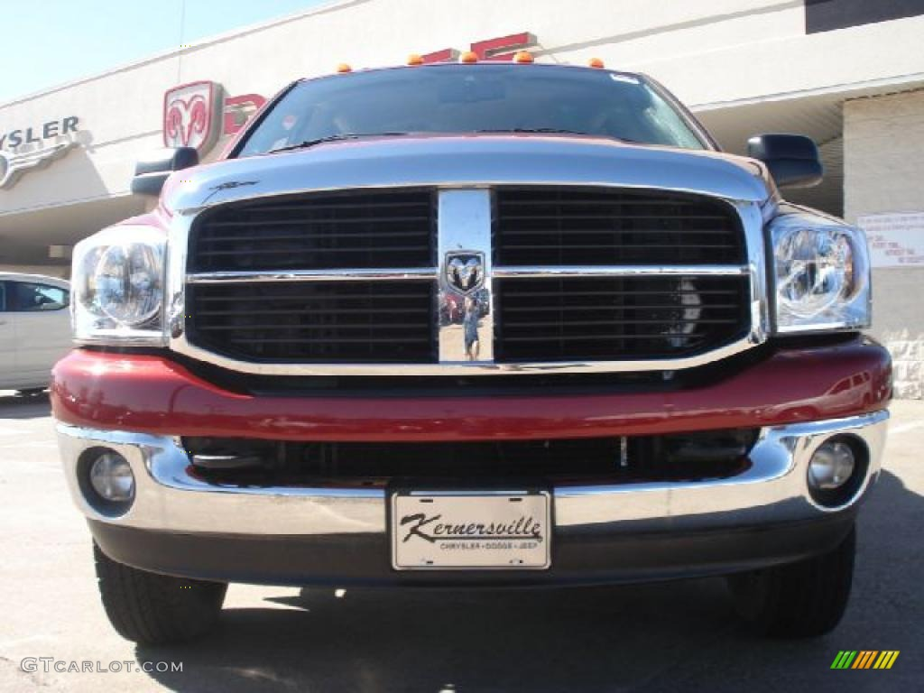 2007 Ram 3500 SLT Quad Cab 4x4 Dually - Inferno Red Crystal Pearl / Khaki photo #8