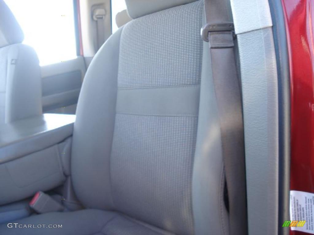 2007 Ram 3500 SLT Quad Cab 4x4 Dually - Inferno Red Crystal Pearl / Khaki photo #9