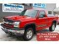 2005 Victory Red Chevrolet Silverado 1500 Z71 Regular Cab 4x4  photo #1