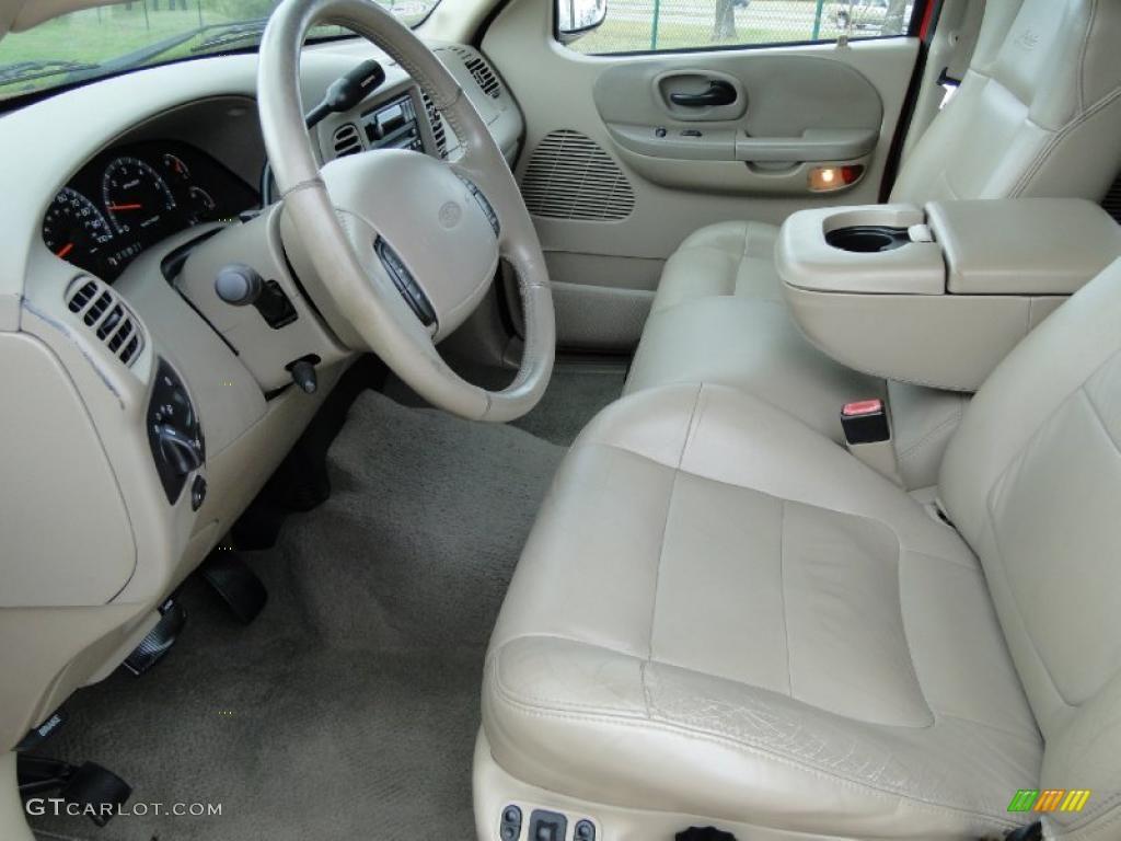 Medium Parchment Interior 2002 Ford F150 Lariat SuperCrew ...