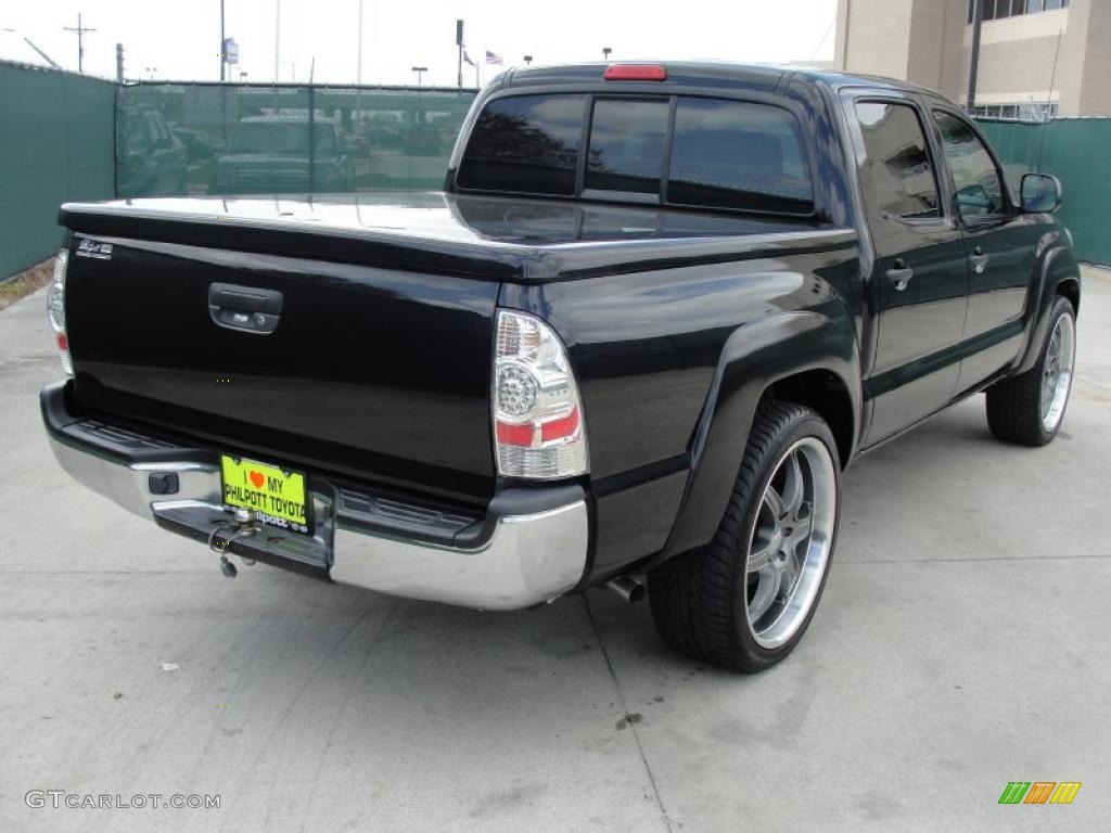 black sand pearl 2007 toyota tacoma v6 sr5 prerunner double cab exterior photo 46215242. Black Bedroom Furniture Sets. Home Design Ideas